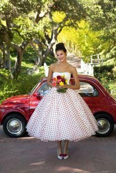 Mariage style rétro - robe de mariée rockabilly