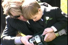 Beautiful with his youngest
