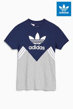425096ef9c8cde Buy adidas Originals Colourblock Trefoil T-Shirt from the Next UK online  shop