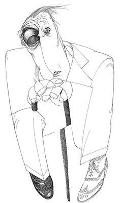 Jorge Luis Borges by Loredano
