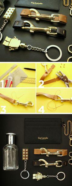 DIY Bag Hardware Bracelet | DIY Christmas Gifts for Him | Handmade Valentines Gifts for Boyfriends