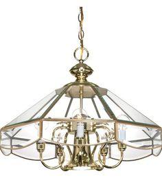 Nuvo Lighting Signature 5 Light Chandelier in Polished Brass 60/513 #lightingnewyork #lny #lighting