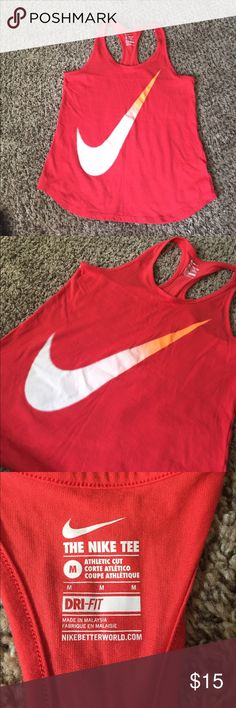 Nike racer back athletic top. Size medium. Very comfortable and lightweight. Racer back style. Nike Tops Tank Tops