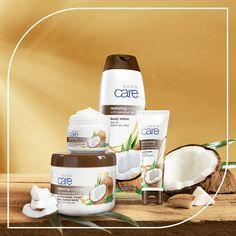 Avon Care, Beauty Logo, Shower Gel, Body Lotion, Moisturizer, Coconut, Bubble Bath, Tableware, Skincare