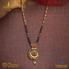 Get In Touch With us on Gold Mangalsutra Designs, Gold Jewellery Design, Gold Jewelry Simple, Trendy Jewelry, Jewelry Sets, Necklace Designs, Henna, Long Black, Black Gold
