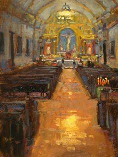 Mission San Carlos Borromeo de Carmelo by Brian Blood - Oil