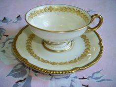 Vintage Castleton China Laurel Demitasse Teacup and by BlackRain4