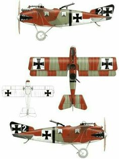 LFG Roland C.II Ww2 Aircraft, Fighter Aircraft, Military Aircraft, Aircraft Parts, Military Jets, Scale Models, Air Fighter, Aircraft Painting, Parasol