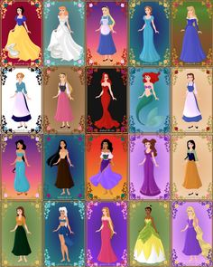 Disney Heroines- I love whoever did this