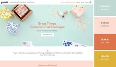 Pastel colors aren't just for nursery room walls: This website by B/C Designers uses clean, bright pastel pinks, blues, and oranges to create a fun, bright, and inviting palette. When using pastels, try to mix in a fair amount of whitespace to keep things fresh and light.