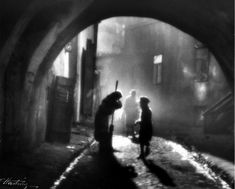by Edward Hartwig An old Jewish woman and a boy, Lublin, Poland, c. [So wait, Hartwig took that picture when he was 9 to 11 years old? Street Photography, Art Photography, Shadow Silhouette, Emotional Photography, Good Old Times, Art Graphique, Black And White Pictures, After Dark, Vintage Photographs