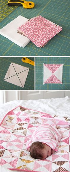Quilt for a girl baby quilt baby name quilt special birthday gift toddler girl quilt pink quilt for a little girl little girl blanket – Artofit Baby Quilt Tutorials, Quilting Tutorials, Quilting Projects, Sewing Tutorials, Beginner Quilting, Tutorial Sewing, Quilting Ideas, Nine Patch, Girls Quilts