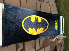 CHECKERED steel grating design BATMAN Beach Towel Personalized by CACBaskets on Etsy Oversized Beach Towels, Superhero Logos, Batman, Steel, Unique Jewelry, Handmade Gifts, Vintage, Etsy, Design