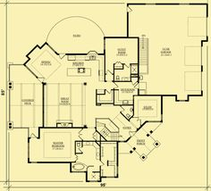 Main Level Floor Plans For Single Story With Great Views