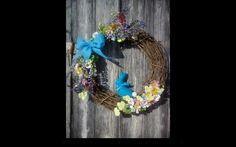 Easter wreath #homemade#felt#grapevine