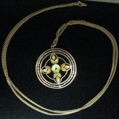 9k #Gold #Peridot #Pendant #Jewelry #The #Antiques #Room #Galway #Ireland Edwardian Jewelry, Vintage Jewelry, Diamond Rings, Diamond Engagement Rings, Pendant Jewelry, Pendant Necklace, Galway Ireland, Unique Vintage, Peridot