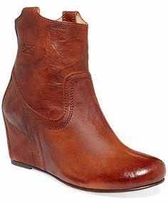 Frye Women's Boots, Carson Wedge Booties