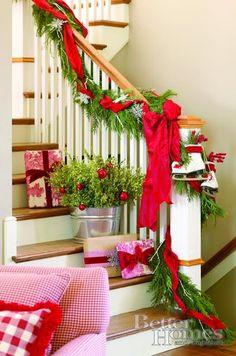 decoração natal escada