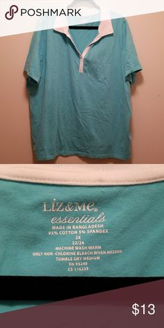 2dbae9b3946 Liz   Me Polo Top Size 22 24 Guc no damage or stains Catherines Tops