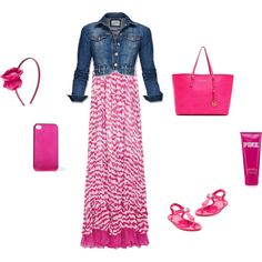 Fun in Pink, created by lovemykidz on Polyvore For my lexie.