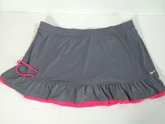 Nike Dri-Fit (Large) Women's Tennis, Running, Activewear Gray & Pink SKORT #Nike #SkirtsSkortsDresses