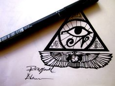 ojo de horus piramide tatuaje - Buscar con Google Piercing Tattoo, I Tattoo, Dibujos Tattoo, Eye Of Ra, Alchemy Symbols, King Design, Eye Of Horus, Symbolic Tattoos, Deathly Hallows Tattoo