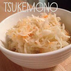 tsukemono (aka lacto-fermented Japanese cabbage salad)