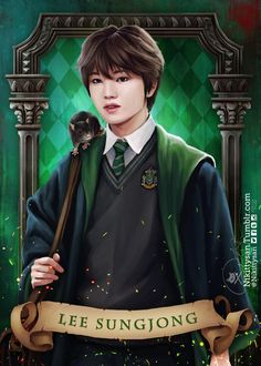 Nikittysan being amazing with her fanart again. This time, she's sorting the boys into Hogwarts houses. And they sound like perfect fits. Infinite Songs, Infinite Art, Kim Myungsoo, Infinite Members, Before The Dawn, Boy Idols, Kpop Drawings, Woollim Entertainment, Lee Sung