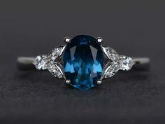 London blue topaz ring blue topaz ring oval cut engagement