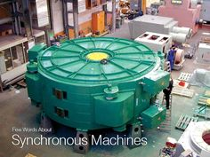 Few Words About Synchronous Machines... - (pic) Gearless synchronous generator for wind power plants developed by SIEMENS
