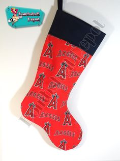 California Angels Handmade Christmas Stocking