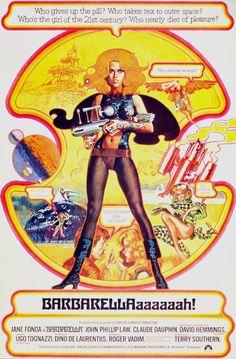 'Barbarella' film poster, 1968.
