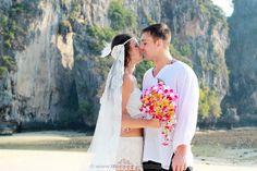Railay Beach Wedding Package : Ksenija + Dragan | Thai Marriage Planner Beach Wedding Packages, Railay Beach, Thailand Wedding, Event Organiser, Wedding Ceremony, Destination Wedding, Marriage, Wedding Dresses, Valentines Day Weddings