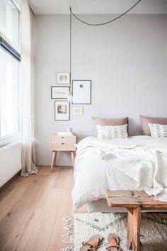 neutral tones in modern bedroom