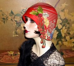 Dashing 1920s Cloche Couture Vtg Downton Abbey Flair Flapper Hat | eBay