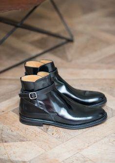 Black MERTHYR Ankle Boots