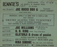 https://flic.kr/p/aWf16k | Advertising postcard | Postcard advertising upcoming acts at Lennie's on the Turnpike in April 1969. The postcards were sent to everyone on Lennie's mailing list.