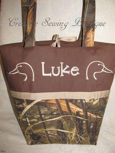 CUSTOM HANDMADE MAX 4HD CAMO CAMOFLAUGE DUCK DIAPER BAG YOU CHOOSE NAME #Handmade #Handcrafted