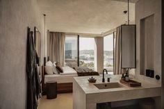 Neues Hideaway auf den Balearen: OKU Ibiza - The Chill Report Ibiza Hotel, Superior Room, Hotel Room Design, Hotels, Interior And Exterior, Interior Design, Den, Chill, Home Decor