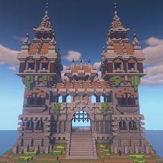 Pin by Kata on minecraft 3 Minecraft Kingdom, Minecraft Castle, Minecraft Plans, Minecraft Survival, Minecraft Tutorial, Minecraft Blueprints, Minecraft Crafts, Minecraft Roof, Minecraft Structures