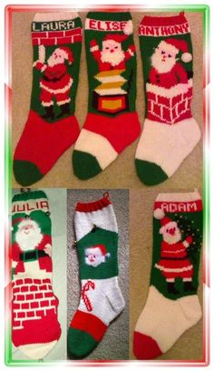 SIX PACK Of Savings6 Classic Santa Stockings--Classic. These are the ones my mom mom made for us!