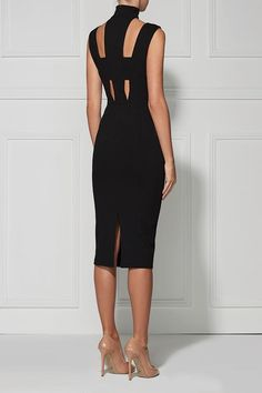 Sweet Charity White One Shoulder Bandage Dress - Sweet Charity Is sleek, chic and sexy black bandage construction, cutout deep v-neckline, midi leng - Club Dresses, Sexy Dresses, Evening Dresses, Black Dress Outfits, Party Dresses, Fashion Dresses, Dress Dior, Belted Dress, Bodycon Dress