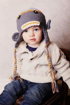 Sock Monkey Hat - Blue, Grey & Orange@Taylor Joelle Designs  #taylorjoellekidsdreamcloset