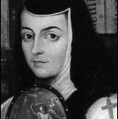 Who was Sor Juana Inés de la Cruz? Related to #99. Portrait of Sor Juana Inés de la Cruz. Miguel Cabrera. c. 1750 CE. Oil on canvas.