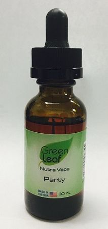 Green LeafTM Party Vitamin Vaporizing E-Liquid gives you a competitive edge increasing your strength and energy with our deer antler extract and B vitamins.