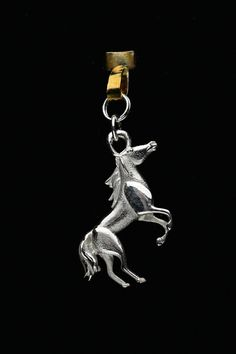 Sterling Silver Horse Charm by Donna Pizarro from her Animal Whimsey Collection of Fine Horse Jewelry