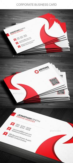 Business card design suitable for companies or personal use. Download here: http://graphicriver.net/item/corporate-business-card/12834740