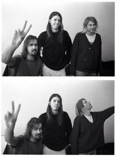 Kurt Cobain Dave Grohl and Krist Novoselic from Nirvana.