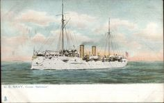 US Navy Cruiser Ship Battleship Baltimore TUCK c1910 Postcard