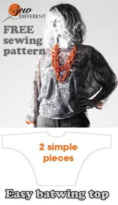 I love this sewing pattern. It's really quick and easy and best of all its a FREE download from www.sewdifferent.co.uk Make in a sheer fabric for this look or in a satin for a sophisticated going out look. Really easy to make - I've made it in 4 times in different fabrics!